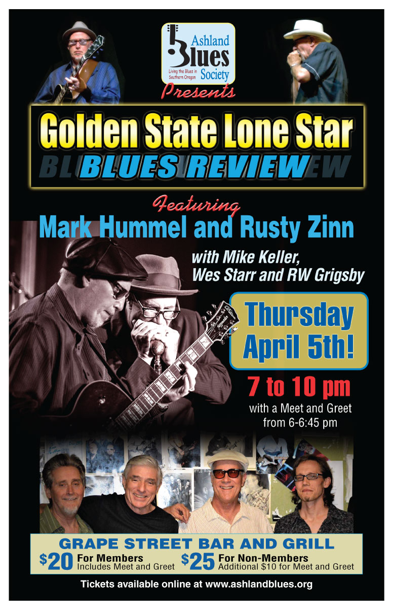 Upcoming events ashland blues society benefit concert with the ashland blues society benefit concert with the golden state lone star blues revue at grape street bar and grill medford kristyandbryce Gallery